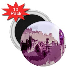 Abstract Painting Edinburgh Capital Of Scotland 2 25  Magnets (10 Pack)  by Simbadda