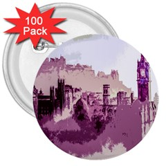 Abstract Painting Edinburgh Capital Of Scotland 3  Buttons (100 Pack)  by Simbadda