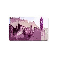 Abstract Painting Edinburgh Capital Of Scotland Magnet (name Card) by Simbadda