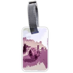 Abstract Painting Edinburgh Capital Of Scotland Luggage Tags (one Side)  by Simbadda