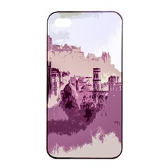 Abstract Painting Edinburgh Capital Of Scotland Apple Iphone 4/4s Seamless Case (black) by Simbadda
