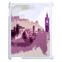Abstract Painting Edinburgh Capital Of Scotland Apple Ipad 2 Case (white) by Simbadda
