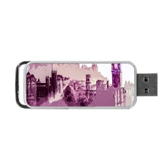 Abstract Painting Edinburgh Capital Of Scotland Portable Usb Flash (one Side) by Simbadda