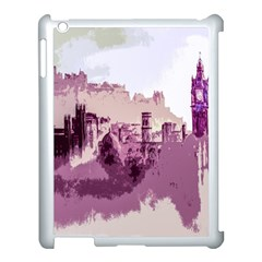 Abstract Painting Edinburgh Capital Of Scotland Apple Ipad 3/4 Case (white) by Simbadda