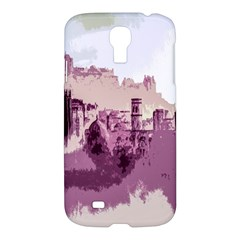 Abstract Painting Edinburgh Capital Of Scotland Samsung Galaxy S4 I9500/i9505 Hardshell Case by Simbadda