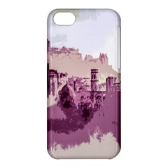 Abstract Painting Edinburgh Capital Of Scotland Apple Iphone 5c Hardshell Case by Simbadda