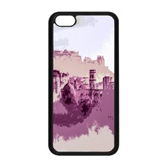 Abstract Painting Edinburgh Capital Of Scotland Apple Iphone 5c Seamless Case (black) by Simbadda
