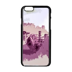 Abstract Painting Edinburgh Capital Of Scotland Apple Iphone 6/6s Black Enamel Case by Simbadda