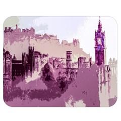 Abstract Painting Edinburgh Capital Of Scotland Double Sided Flano Blanket (medium)  by Simbadda