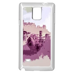 Abstract Painting Edinburgh Capital Of Scotland Samsung Galaxy Note 4 Case (white) by Simbadda