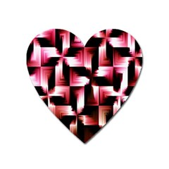 Red And Pink Abstract Background Heart Magnet by Simbadda