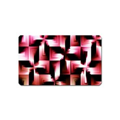 Red And Pink Abstract Background Magnet (name Card) by Simbadda