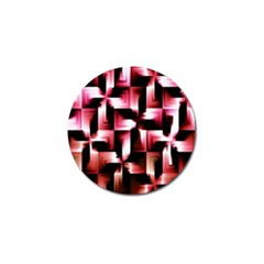 Red And Pink Abstract Background Golf Ball Marker (10 Pack) by Simbadda