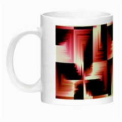 Red And Pink Abstract Background Night Luminous Mugs by Simbadda