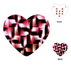 Red And Pink Abstract Background Playing Cards (heart)  by Simbadda