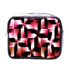 Red And Pink Abstract Background Mini Toiletries Bags by Simbadda