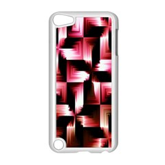 Red And Pink Abstract Background Apple Ipod Touch 5 Case (white) by Simbadda