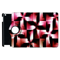 Red And Pink Abstract Background Apple Ipad 2 Flip 360 Case by Simbadda