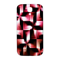 Red And Pink Abstract Background Samsung Galaxy S4 I9500/i9505  Hardshell Back Case by Simbadda