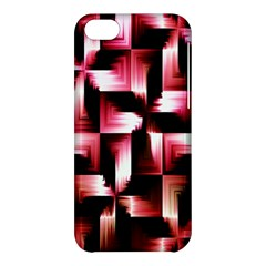 Red And Pink Abstract Background Apple Iphone 5c Hardshell Case by Simbadda