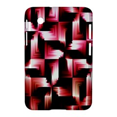 Red And Pink Abstract Background Samsung Galaxy Tab 2 (7 ) P3100 Hardshell Case  by Simbadda