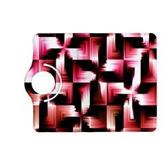 Red And Pink Abstract Background Kindle Fire Hd (2013) Flip 360 Case by Simbadda