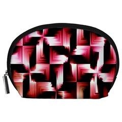 Red And Pink Abstract Background Accessory Pouches (large)  by Simbadda