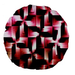 Red And Pink Abstract Background Large 18  Premium Flano Round Cushions by Simbadda