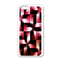 Red And Pink Abstract Background Apple Iphone 6/6s White Enamel Case by Simbadda