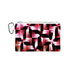Red And Pink Abstract Background Canvas Cosmetic Bag (s) by Simbadda