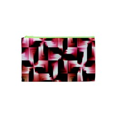 Red And Pink Abstract Background Cosmetic Bag (xs)