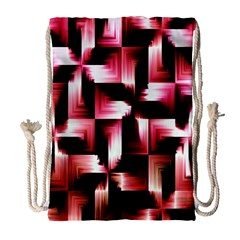 Red And Pink Abstract Background Drawstring Bag (large) by Simbadda