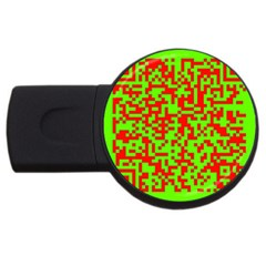 Colorful Qr Code Digital Computer Graphic Usb Flash Drive Round (2 Gb)