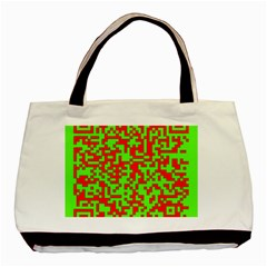 Colorful Qr Code Digital Computer Graphic Basic Tote Bag by Simbadda