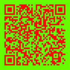 Colorful Qr Code Digital Computer Graphic Canvas 16  X 16   by Simbadda