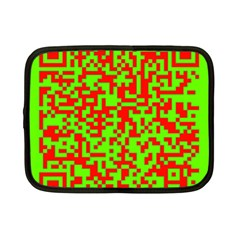 Colorful Qr Code Digital Computer Graphic Netbook Case (small)  by Simbadda