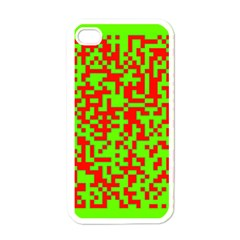 Colorful Qr Code Digital Computer Graphic Apple Iphone 4 Case (white) by Simbadda
