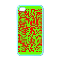 Colorful Qr Code Digital Computer Graphic Apple Iphone 4 Case (color) by Simbadda