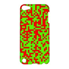 Colorful Qr Code Digital Computer Graphic Apple Ipod Touch 5 Hardshell Case by Simbadda