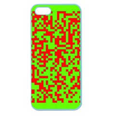 Colorful Qr Code Digital Computer Graphic Apple Seamless Iphone 5 Case (color) by Simbadda