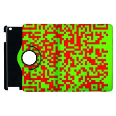 Colorful Qr Code Digital Computer Graphic Apple Ipad 3/4 Flip 360 Case by Simbadda