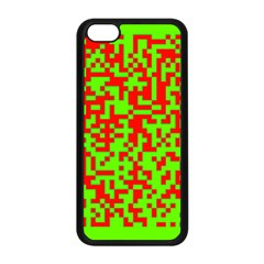 Colorful Qr Code Digital Computer Graphic Apple Iphone 5c Seamless Case (black) by Simbadda