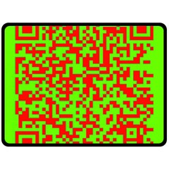 Colorful Qr Code Digital Computer Graphic Double Sided Fleece Blanket (large)  by Simbadda