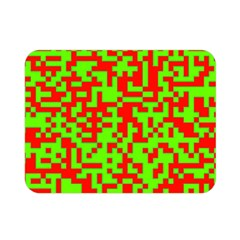 Colorful Qr Code Digital Computer Graphic Double Sided Flano Blanket (mini)  by Simbadda