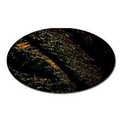 Abstract Background Oval Magnet by Simbadda