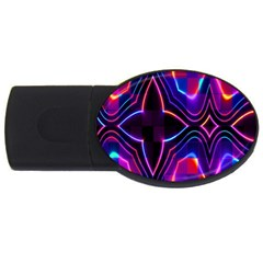 Rainbow Abstract Background Pattern Usb Flash Drive Oval (4 Gb) by Simbadda