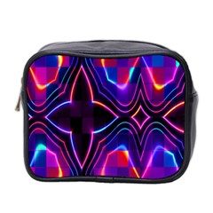 Rainbow Abstract Background Pattern Mini Toiletries Bag 2 Side by Simbadda