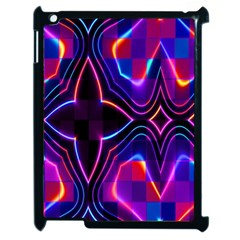 Rainbow Abstract Background Pattern Apple Ipad 2 Case (black) by Simbadda