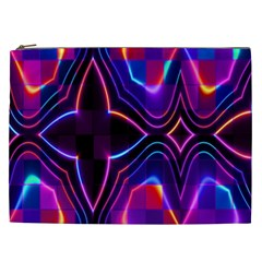 Rainbow Abstract Background Pattern Cosmetic Bag (xxl)