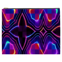 Rainbow Abstract Background Pattern Cosmetic Bag (xxxl)  by Simbadda